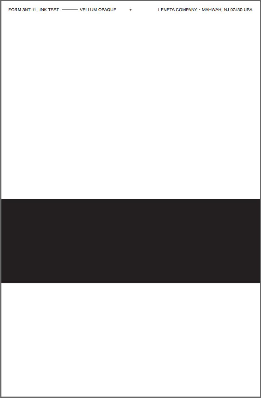 Form 3NT-11 Vellum Opaque Printing Ink Drawdown Sheet