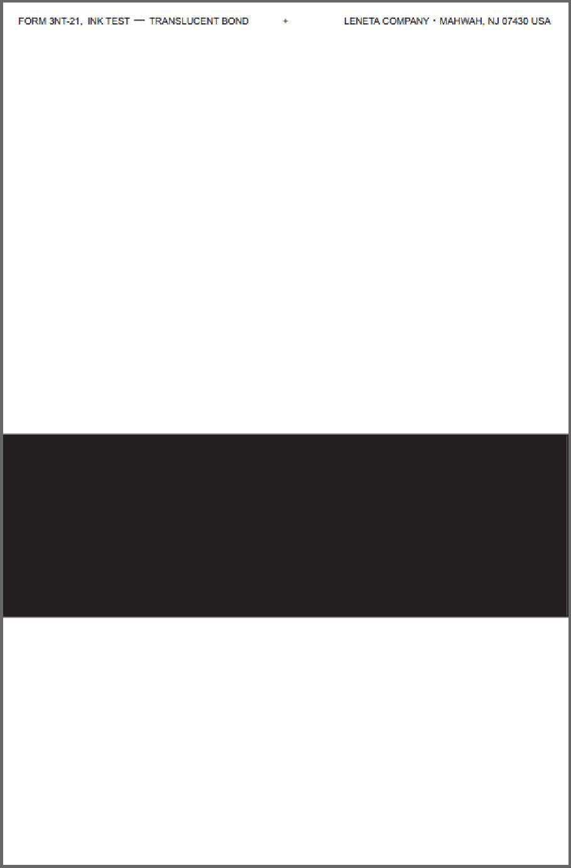 Form 3NT-21 Translucent Bond Printing Ink Drawdown Sheet
