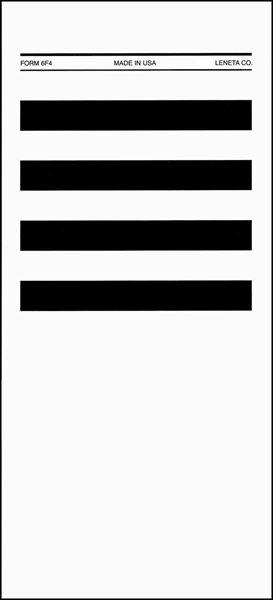 Form 6F4 Duplex Applicator Chart